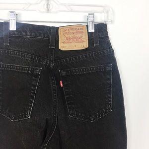Vintage Black Levi's 512 High Waisted Mom Jeans